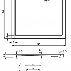 402-extarflat square Showertrays-a