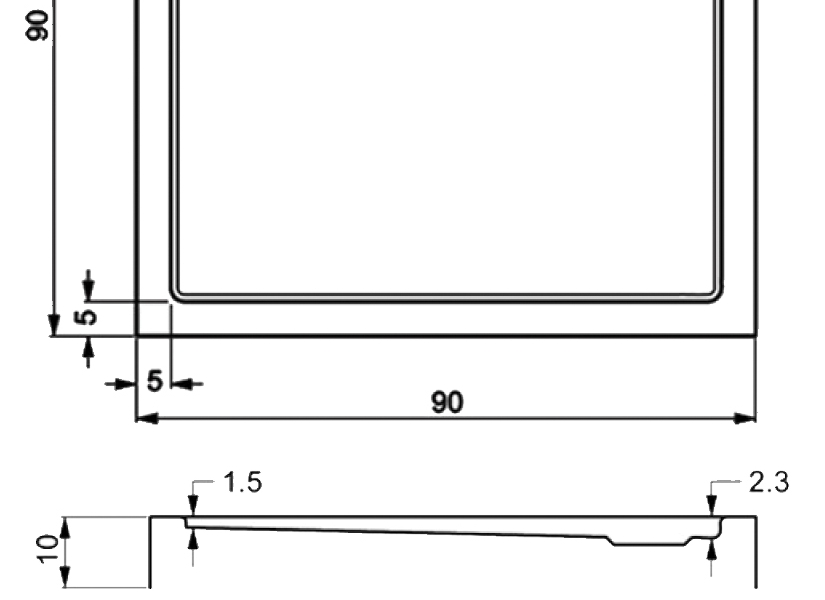 406-monoflat square showertrays-a
