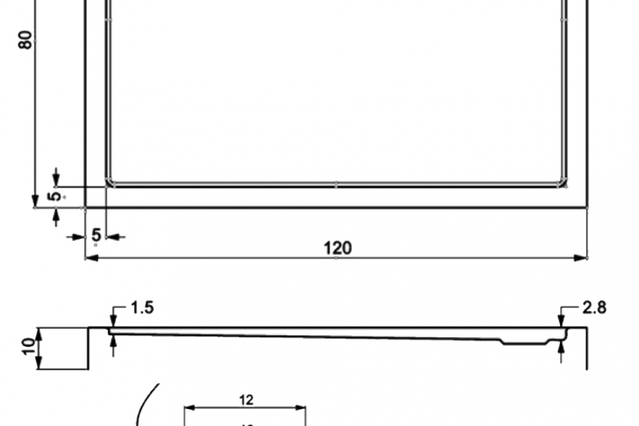 407-monoflat rectangular showertrays-a