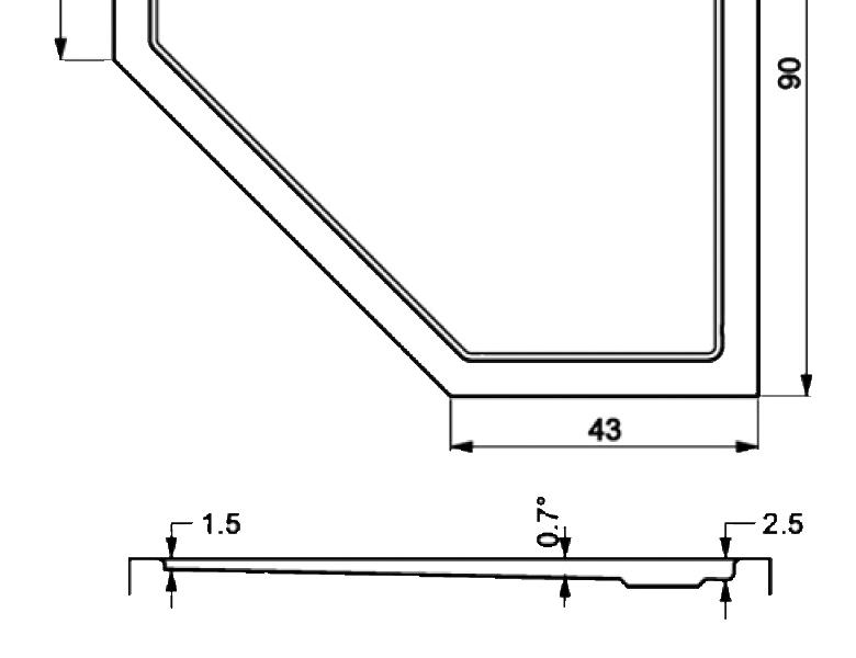 408-monoflat pentagonal showertrays-a